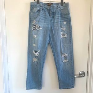 Lucky Brand boyfriend-style Ripped Jeans FIT 4